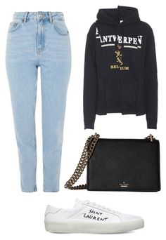 """""""ARPT1"""" by zsaraissa ❤ liked on Polyvore featuring Topshop, Vetements, Yves Saint Laurent and Kate Spade"""