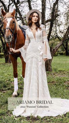 Bridal Wedding Dresses, Wedding Dress Styles, Bridal Style, Lace Wedding, Boho Bride, Bridal Collection, Vintage Bohemian, Boho Chic, Ball Gowns