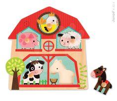 Hledáte pro vaše děťátko originální hračku? Dřevěné hudební vkládací puzzle s motivem zvířátek z farmy je ideální řešení. S hračkou puzzle děťátko poznává zvířátka a zabaví se na dlouhou dobu.