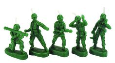 Toy Soldier Birthday Candles  #giftsformen #birthdaygiftsformen #birthdaycandles