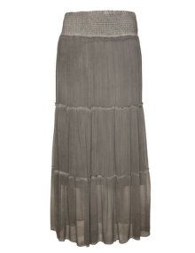 DNY Tiered cotton maxi skirt in Grey