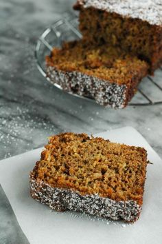 Carrot Bread ~ All the flavors of carrot cake in a healthier perfectly moist quick bread. Perfect with coffee or tea! | www.TheAdventureBite.com