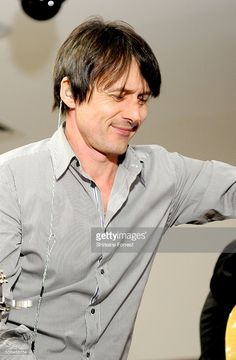 Brett Anderson of Suede performs a live acoustic set and signs copies of their new album 'Night Thoughts' at HMV Manchester on January 23, 2016 in Manchester, England.