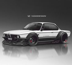 Cool rendering of a classic BMW. Bmw E9, Suv Bmw, Tuning Motor, Car Tuning, Tuner Cars, Jdm Cars, Cars Auto, Carros Bmw, Automobile