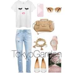 TokyoGarden by wngx on Polyvore featuring polyvore, fashion, style, Paige Denim, Christian Louboutin, Modern Vintage, Kate Spade, Forever 21, Tom Ford and J.Crew
