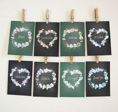 Floral Wreath & Border Clip Art 12 Heart Shaped by JSquarePresents, $5.50 ♥ ♥ ♥ Get These 5x7 Printable Wall Arts for FREE! FREE! FREE! ♥ ♥ ♥ - 8 pages of lovely chalkboard floral wreath printable wall art as shown on the 1st image are giving away to the first 5 buyers of this updated listing! Take advantage of this offer now!