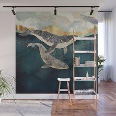Bond II Wall Mural by spacefrogdesigns Mural Wall Art, Mural Painting, Bedroom Murals, Bedroom Wall, Removable Wall Murals, Wall Drawing, Dream Wall, Interior Decorating, Interior Design