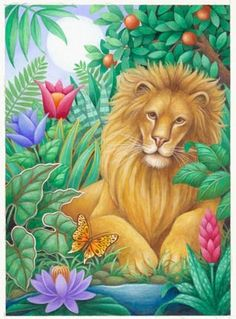 Lion and Butterfly ~*~ Stephanie Stouffer