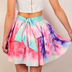 Nostalgic Rainbow Skirt - back in stock