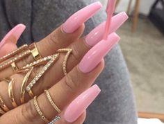 Pin by jackie on nails long nails, nail designs, nails. Sexy Nails, Hot Nails, Nails On Fleek, Hair And Nails, Pink Acrylic Nails, Acrylic Nail Designs, Glitter Nails, Matte Nails, Gorgeous Nails