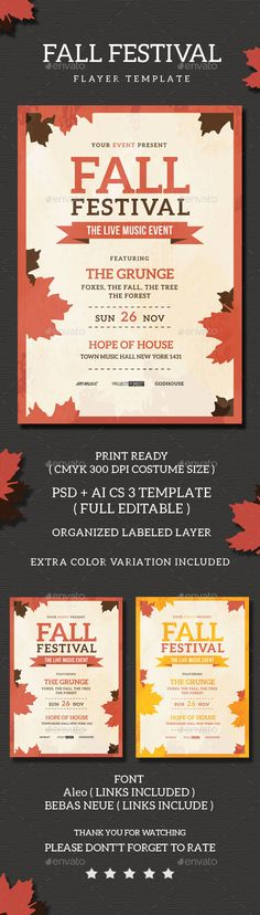 Fall Festival Flyer Pinterest Event Flyers Flyer Template And