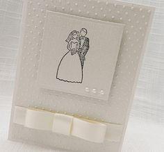 Handmade Wedding Card  Handmade Bride & Groom by foryoumarilyn, $4.85