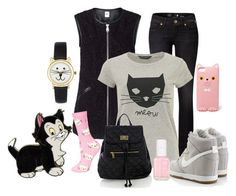 """""""Disney Inspiration-Cats"""" by dgia ❤ liked on Polyvore featuring Vero Moda, Replay, Disney, Dorothy Perkins, NIKE, ASOS, Topshop, Warehouse, Essie and Forever 21"""