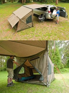 For more space and a more fun camping experience - an additive waterproof tent that provides protection from the elements and zips up for easy installation. An attachable tent!