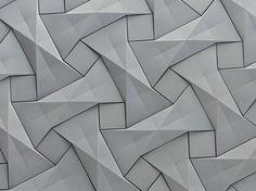 Azulejo tridimensional de fibrocemento QUADILIC Colección Concurrent Constellations by KAZA Concrete | diseño Ilan Garibi