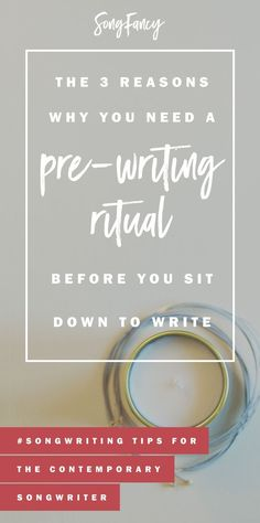 Want a great writing experience each time you sit down? Start by establishing your very own songwriting pre-writing ritual. Songwriting tips!   http://SongFancy.com