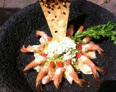 Shrimp Guacamole from El Delfin Restaurant at Hotel Garza Canela, San Blas