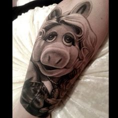 Miss Piggy Tattoo by Nikko Hurtado