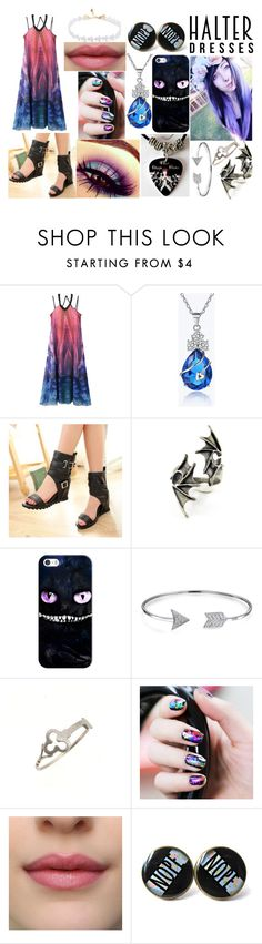 """""""sunset date"""" by entoanlblast ❤ liked on Polyvore featuring WithChic, Casetify, Bling Jewelry, Sian Bostwick Jewellery and halterdresses"""