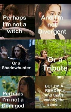 Harry Potter, Divergent, Mortal instruments, Hunger games, Percy Jackson and the Olympians