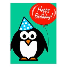 Make each celebration unique with Penguin party supplies from Zazzle. Customize it with signs to favors to create an unforgettable party! Red Birthday Party, Birthday Party Celebration, Birthday Postcards, Happy Birthday Cards, Red Balloon, Balloons, Make Your Own Invitations, Postcard Size, Paper Texture