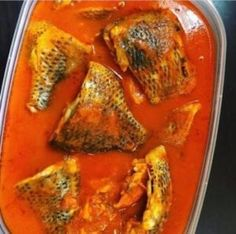 Ten Ways To Serve Tilapia Fish Stew Nigerian Tilapia Recipes, Fish Recipes, Seafood Recipes, Soup Recipes, Nigerian Stew, Nigerian Food, Sudanese Food, All Nigerian Recipes, African Stew