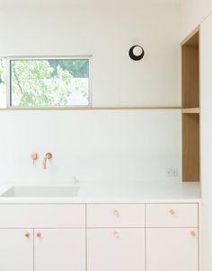 Pale pink kitchen in LA designed by Annie Ritz and Daniel Rabin of Studio RitzRabin.
