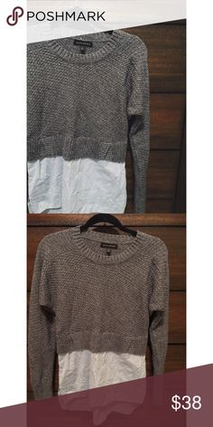 B A N A N A | R E P U B L I C Tweed mixed media • Navy sweater • Blue top underneath • Excellent condition • NO TRADES/HOLDS • All reasonable offers accepted • Banana Republic Sweaters