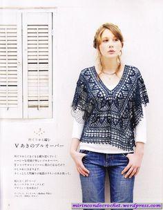Esta tunica es muyyyyyyyyyyyyyy linda!!!!! | Mi Rincon de Crochet (love this!, chart only, maybe I can someday figure it out)