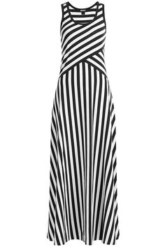 Dkny Striped Cotton Maxi Dress - Stripes in Black Dress Outfits, Casual Dresses, Fashion Dresses, Summer Dresses, Maxi Dresses, Dress Skirt, Bodycon Dress, Striped Dress, Cotton Dresses