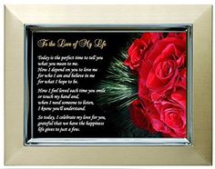 Personalized Valentines Day, Birthday or Anniversary Gift - Romantic Poem for Wife, Husband, Girlfriend or Boyfriend - Frame Valentine Gifts For Husband, Christmas Gifts For Wife, Birthday Gifts For Husband, Gifts For New Dads, Anniversary Gifts For Wife, Girlfriend Birthday, Valentine Day Love, Love Gifts, Christmas Birthday