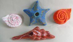 felt seashells