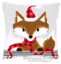 Gallery.ru / Фото #61 - Vervaco - bobrika Xmas Cross Stitch, Cross Stitch Baby, Cross Stitch Animals, Cross Stitching, Christmas Pillow, Christmas Cross, Cross Stitch Designs, Cross Stitch Patterns, Cadeau Client
