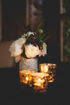 string-wrapped vases