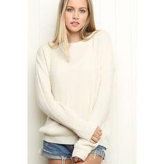 Brandy Melville Sweaters - Brandy Melville Ollie Sweater - Cream