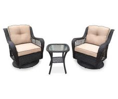Charlottetown White All Weather Wicker Swivel Patio Chair