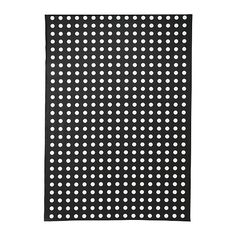 LIALOTTA Plastic-coated fabric - black/white  - IKEA