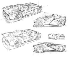 Perspective Car Design Sketches by Scott Robertson Auto Design, Design Autos, Automotive Design, Car Design Sketch, Car Sketch, Car Drawings, Cartoon Drawings, Brainstorm, Game Design