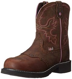 Justin Boots Women's Gypsy Collection Round-Toe Western Boot - 8 Inch * This is an Amazon Affiliate link. Read more at the image link.