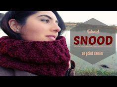 Tricoter un snood facile en point basket en tricotin circulaire - YouTube