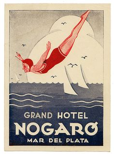 Argentina - Mar del Plata - Grand Hotel Nogaro | Luggage Labels by b-effe | Flickr