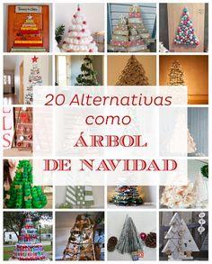 20 alternativas como árbol de Navidad | Manualidades