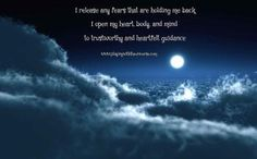 During this waning of the full moon you might feel a bit of melancholy as the build-up to this powerful phase is so strong for those who are open to their intuitive, sensitive side. Trust in yourself and what you feel and know that there are always events and situations being worked on that you can't always see and so trust that there is more going on that meets the eye and that grander possibilities are possible. There is great change happening and you are an important part. Use the power…