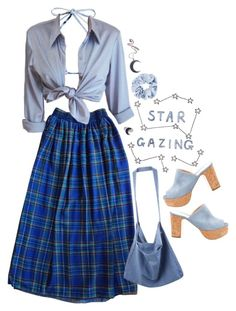 """""""Untitled #2881"""" by momoheart ❤ liked on Polyvore featuring American Apparel, Made By Dawn, Kill Star and Rupert Sanderson"""