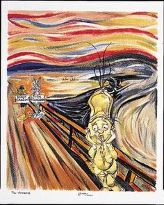 "Awesome homage to Munch's ""The Scream"" by Chuck Jones - The Scweam."