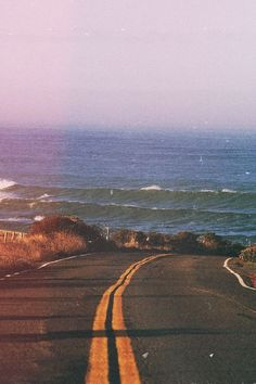 Drive towards the ocean.