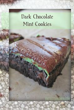 ... chip cookies mint chocolate dark chocolate and mint chip clouds