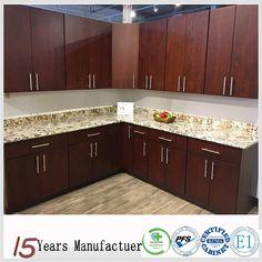 Modern American Standard Wood Grain Laminate Kitchen Cabinet Design