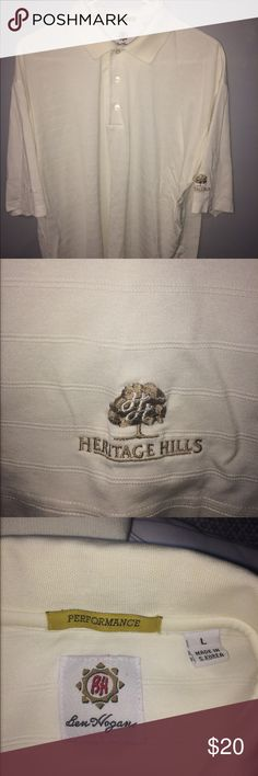 Performance Golf Polo Heritage Hills Country Club performance golf polo. Tag says large but fits like a XL or even a XXL. Used and in good condition. Ben Hogan Shirts Polos