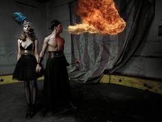 Russian Circus themed editorial for Canadian denim fashion brand Buffalo David Bitton.